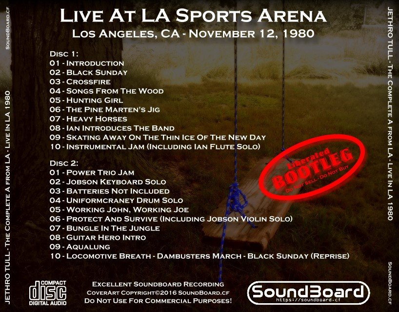 SoundBoard - Jethro Tull - The Complete A from LA - November